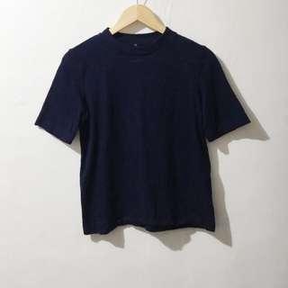 Uniqlo oversized high neck shirt