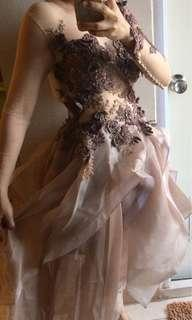 Copper brown ball gown
