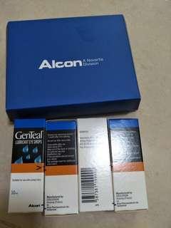 Lubricant eye drops alcon