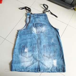 Jumpsuit anak lucu bahan jeans 45,000