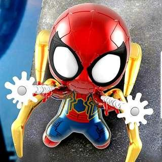 MISB Hot Toys Cosbaby Light Up Function Iron Spider (Dual Web Shooting Version) COSB 501 Bobble-Head Marvel Avengers Infinity War