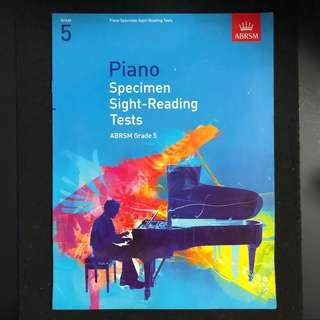 Music Book ABRSM Piano Grade 5 Specimen Sight Reading Tests