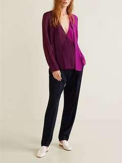 Two color chiffon blouse