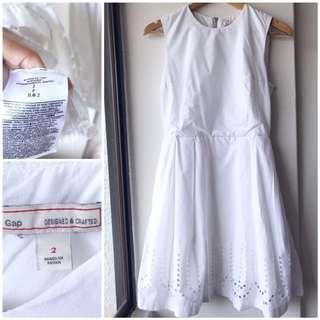 GAP white cotton dress