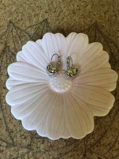 New sweet silver hearts ear rings