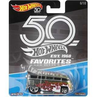 Hotwheels 2018 50th Anniversary Favourites Series Volkswagen T1 Drag Bus Rare