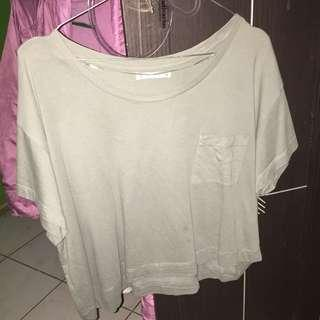 Pull And bear crop shirt