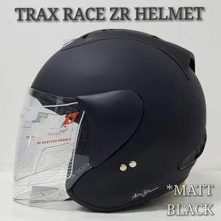 MATT BLACK TRAX RACE ZR HELMET..😊!!