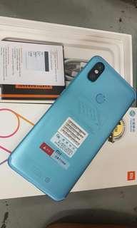 Kredit xiaomi Mi 6x Ram 6 GB ,Ukuran 6 inci ,proses 3 menit
