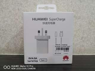(NEW)HUAWEI SUPER CHARGER 5V/4.5A + TYPE C USB CABLE