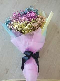 🚚 Rainbow Baby Breath Bouquet | Unicorn Baby Breath Bouquet | Paddlepop Bouquet