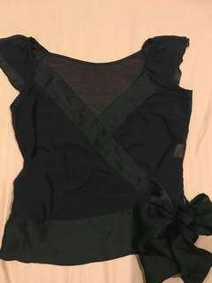 Wrap around black blouse