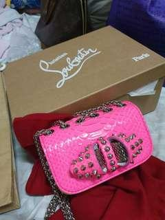 Authentic Rare Christian Louboutin Sweet Charity Neon Bag