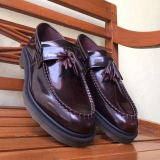 Dr. Martens Adrian Cherry Red Rouge - Size 10 UK