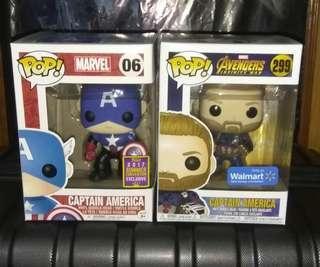 (ON HAND) Captain America Exclusives Marvel Funko Pop Bundle