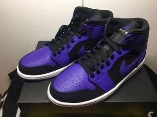 全新Nike Air Jordan 1 MID (紫黑)