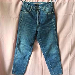 Vintage Denim High Waist Mom Jeans