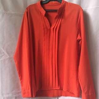 Orange Semi Formal Polo Top