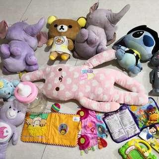 Soft Toys almost all brand new all clear at $25