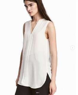 H&M Sleeveless blouse - White