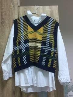 🚚 秋冬V領針織毛衣