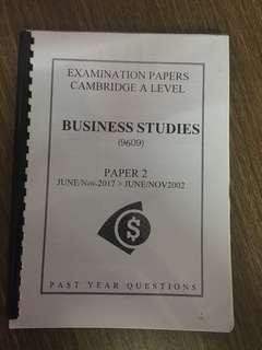 A level Business, Economics and Law