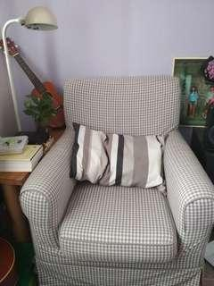 IKEA Ektorp Jennylund Armchair with checkered cover
