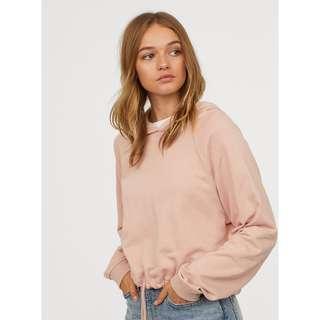 H&M Pink Short Hooded Sweatshirt