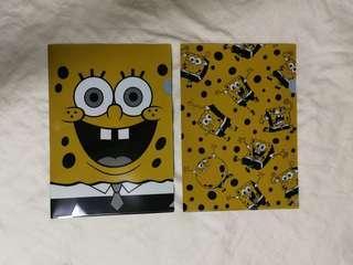 Spongebob A4 plastic folders