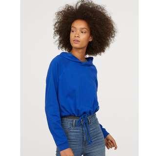 H&M Blue Short Hooded Sweatshirt