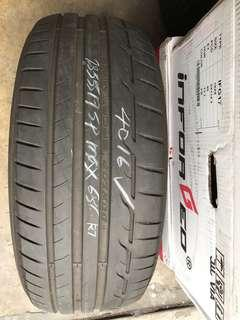 235/55/17 dunlop sportmax rt used tyre 1pc $50