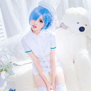 Rezero Rem nurse cosplay costume