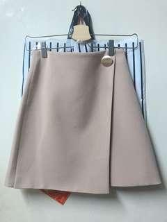 粉色 不規則短裙 skirt