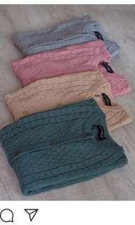 GONEGANI Mango Cable Sweater NUDE
