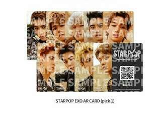 (Pre-order) EXO Starpop AR Card