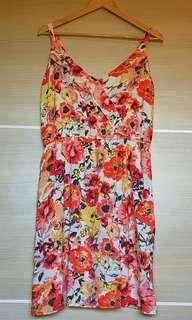 Flower patterned summer dress