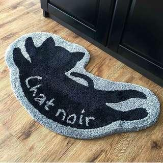 Carpet | Chat Noir Floor Rug | Feline | Black Cat Floor Mat
