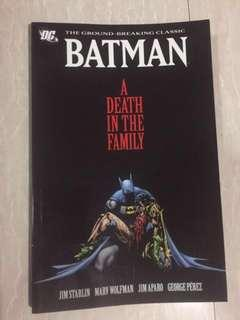 Batman: A Death in the Family Comic Book (Paperback)