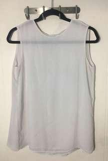Uniqlo Drape Back Detail Sleeveless Top
