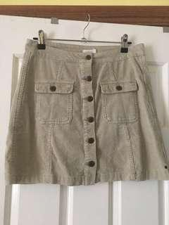 Element Beige Suede Skirt