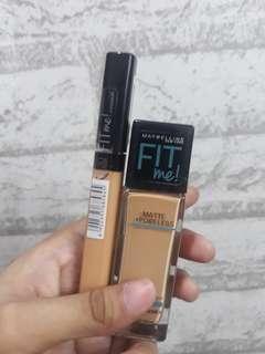 (BUNDLE) Maybelline Fit Me Foundation (310) & Concealer (Honey)