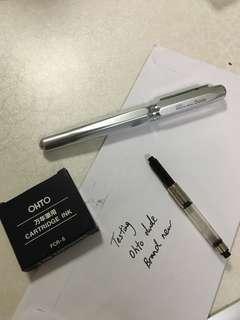 🚚 Ohto Dude Fine Fountain Pen (Cartridge and converter)