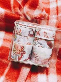 Red Chinese Culture Washi Paper Masking Tapes