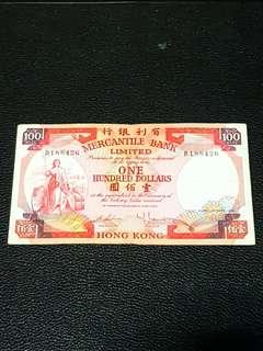 1974 Hong Kong $100 Dollar