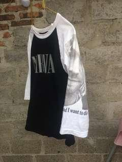 Nirvana raglan tee 'i hate my self i want to die'