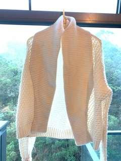 BYPAC pure white sweater 100% cashmere