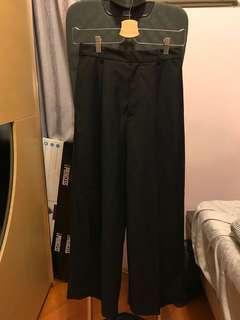 KBF black wide leg pants 黑色闊褲西褲休閒褲