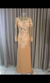 Dark creamy party gown