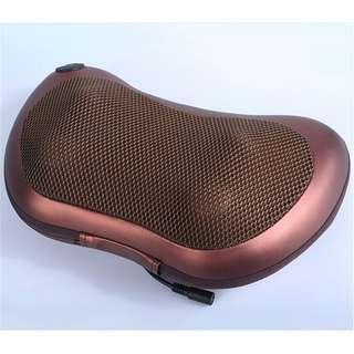 0105_Deep Kneading Massage Pillow with Heat, Auto / Car / Office / Home Chair Massager, Neck, Shoulder and Back Massager Pillow (Black)