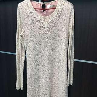 Somerset Bay lace long tunic blouse